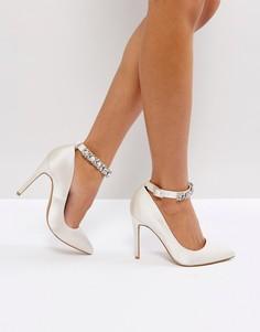 Туфли-лодочки с отделкой ASOS PERSIA Bridal - Белый