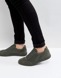 Кроссовки в стиле ретро из нейлона цвета хаки ASOS - Зеленый