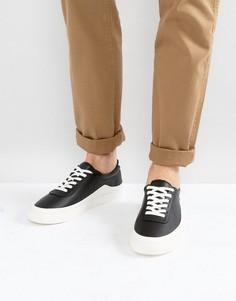 Монохромные кроссовки со шнуровкой ASOS - Черный