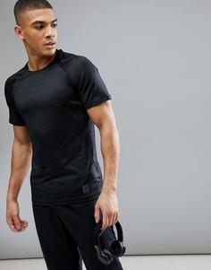 Черная футболка узкого кроя с принтом Nike Training Hypercool 888291-010 - Черный