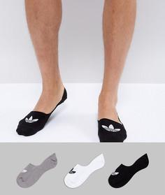 Черные невидимые носки adidas Originals CV5942 - Черный