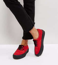 Красные кроссовки на платформе Vans Authentic - Красный