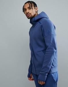 Темно-синий худи adidas ZNE 2 CE4259 - Темно-синий