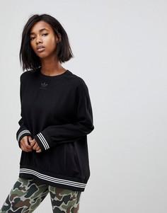 Черный свитшот с отделкой adidas Originals - Черный