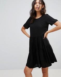 Ярусное свободное платье Vero Moda - Черный
