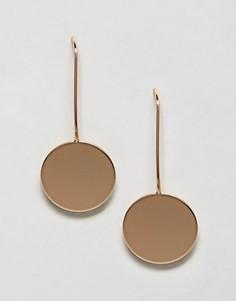 Серьги с круглыми подвесками Nylon - Золотой