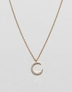 Ожерелье с лунным камнем Nylon - Золотой