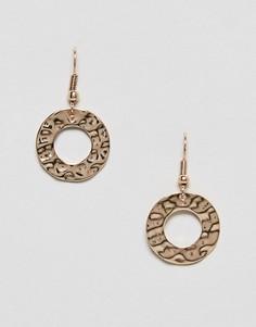Серьги-кольца Nylon - Коричневый