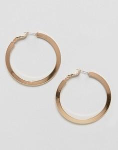 Серьги-кольца Nylon - Золотой
