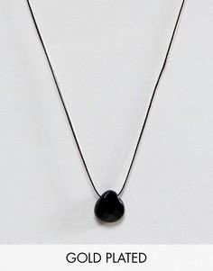 Шелковое ожерелье с ониксом Dogeared Briolette - Черный