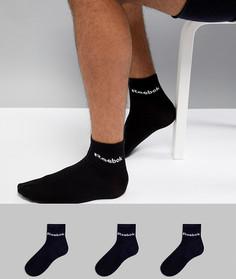 3 пары черных носков Reebok Training AB5274 - Черный