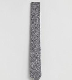 Твидовый галстук с шевронным узором Heart & Dagger - Серый