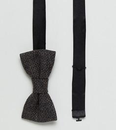 Твидовый галстук-бабочка с шевронным узором Heart & Dagger - Коричневый