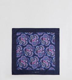 Хлопковый платок для нагрудного кармана с принтом пейсли Noose & Monkey - Темно-синий
