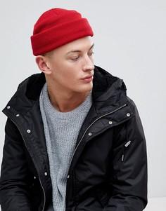 Красная шапка-бини мини в рыбацком стиле ASOS - Красный