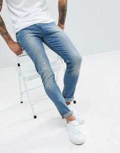 Выбеленные джинсы скинни Noak - Синий