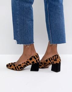 Замшевые туфли на каблуке ASOS SPEARMINT - Мульти
