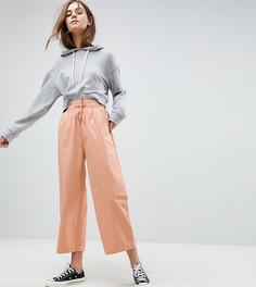 Розовые широкие брюки ASOS - Розовый