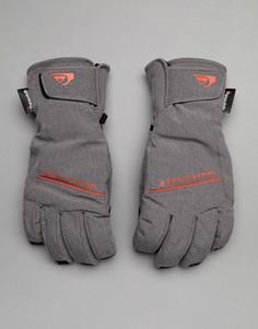 Серые горнолыжные перчатки Quiksilver Freefall - Серый