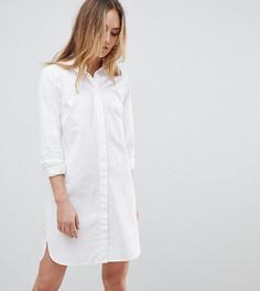Хлопковое платье-рубашка ASOS TALL - Белый