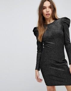 Платье мини с пышными рукавами Pimkie - Черный