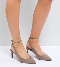 Туфли для широкой стопы на среднем каблуке ASOS SABRINA - Бежевый