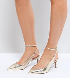 Туфли для широкой стопы на среднем каблуке ASOS SABRINA - Золотой