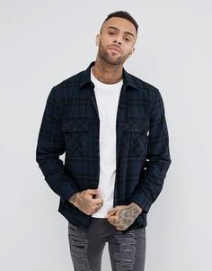 Фланелевая рубашка в клетку (черный/темно-синий) Jack Wills Dundry - Черный