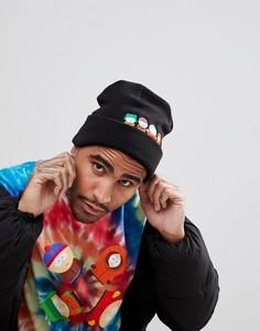 Черная шапка-бини с логотипом HUF x South Park - Черный