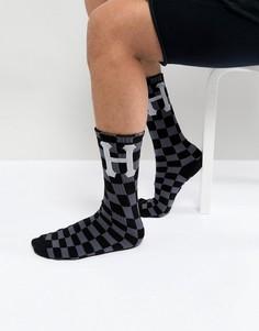 Черные носки в клетку HUF - Черный