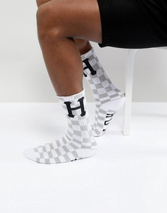Белые носки в клетку HUF - Белый