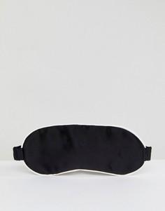 Маска для глаз из 100% шелка ASOS WHITE - Черный