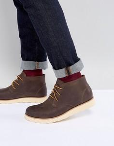 Коричневые кожаные ботинки чукка Eastland Jack - Коричневый