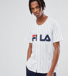 Белая бейсбольная футболка с логотипом Fila Black - Белый
