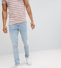 Светлые супероблегающие джинсы в винтажном стиле Noak - Синий