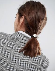 Резинка для волос ограниченной серии с диском - Черный Asos