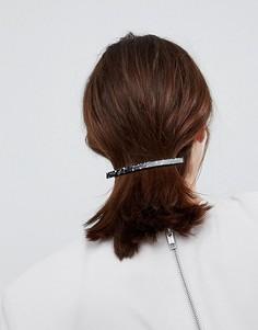 Заколка для волос ограниченной серии с планкой мраморной расцветки - Черный Asos