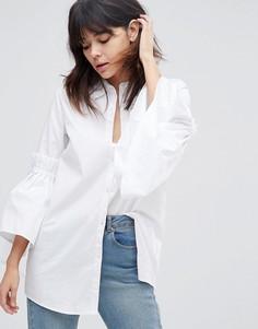 Рубашка с оборками на рукавах Unique 21 - Белый