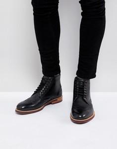 Кожаные ботинки на шнурках Ted Baker Hjenno - Черный