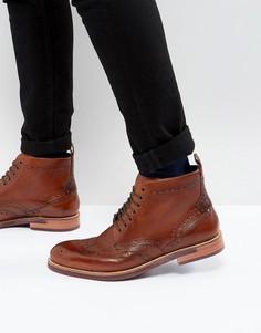 Кожаные ботинки на шнурках Ted Baker Hjenno - Рыжий