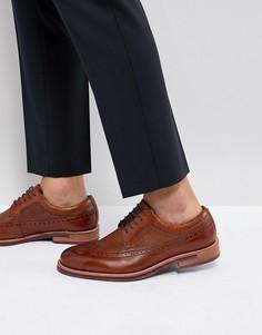 Светло-коричневые кожаные броги Ted Baker Deelani - Рыжий