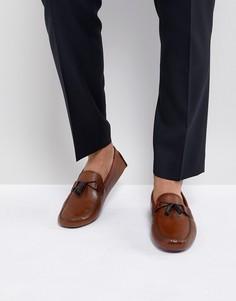 Светло-коричневые кожаные мокасины Ted Baker Urbonn - Рыжий
