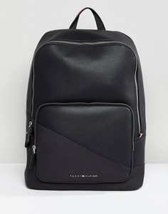 Черный рюкзак из искусственной кожи Tommy Hilfiger - Черный