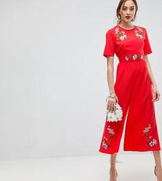 Комбинезон с вышивкой ASOS TALL - Красный