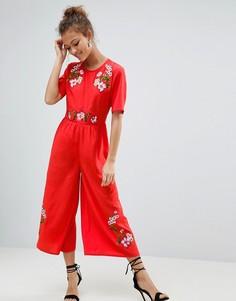 Комбинезон с вышивкой ASOS - Красный