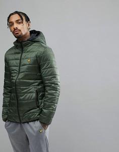 Зеленая дутая куртка Lyle & Scott - Зеленый