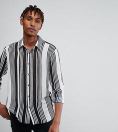 Рубашка классического кроя в белую полоску Reclaimed Vintage Inspired - Белый