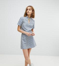Жаккардовая мини-юбка Reclaimed Vintage Inspired - Синий