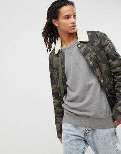 Вощеная хлопковая куртка с камуфляжным принтом Tommy Jeans - Зеленый Hilfiger Denim