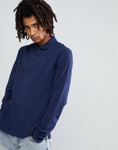 Темно-синий лонгслив поло с логотипом Tommy Jeans - Темно-синий Hilfiger Denim